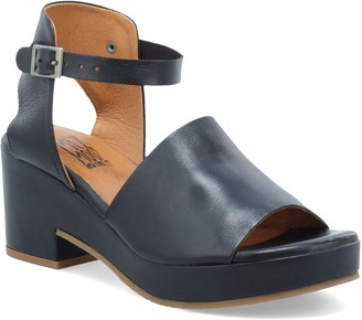 Miz Mooz Leather Platform Strappy Sandals - Gia