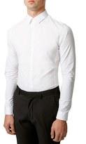 Topman Men's Skinny Fit Stretch Shirt