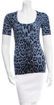 Dolce & Gabbana Leopard Pattern Knit Top