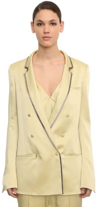 Haider Ackermann Double Breasted Viscose Blend Blazer