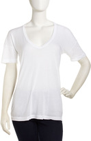 James Perse Draped V-Neck Tee, White