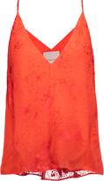 Michelle Mason Fil coupé silk-chiffon camisole