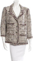 Chanel Striped Fringe-Trimmed Jacket