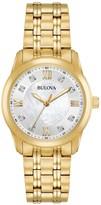 Bulova Women's Diamond Stainless Steel Watch - 0.03 ctw