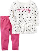 Carter's 2-Pc. Merry Peplum Sweater & Leggings Set, Baby Girls (0-24 months)