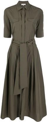 Antonelli Belted Cotton Shirt Dress