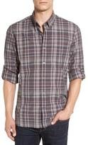 John Varvatos Men's Trim Fit Plaid Sport Shirt