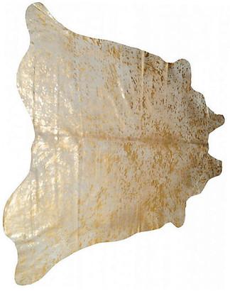 One Kings Lane Zephyr Hide - Natural/Gold - 6'x7'