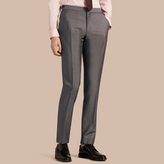 Burberry Slim Fit Wool Mohair Trousers