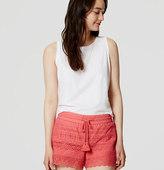LOFT Eyelet Drawstring Shorts