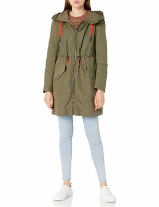Andrew Marc Women's Shippan Crinkle-Rubber Mix Jacket