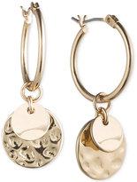 lonna & lilly Gold-Tone Multi-Disc Hoop Earrings
