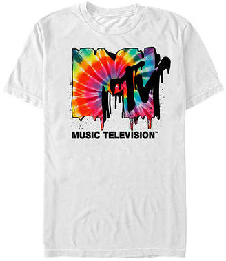 Fifth Sun Mtv Tie Dye Drip Logo Mens Crew Neck Short Sleeve Graphic T-Shirt