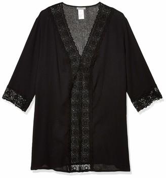 La Blanca Women's V-Neck Lace Tunic Cover Up