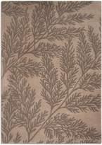 House of Fraser Plantation Rug Co. Leaf 100 Wool Rug - 120x170 BeigeGrey