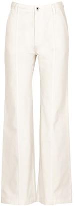 Loewe White Flared Wide-leg Jeans
