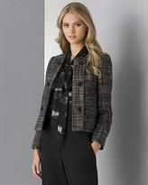 Women's Graphic Tweed Crop