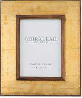 "Shiraleah America 5"" x 7"" Wood & Brass Picture Frame"