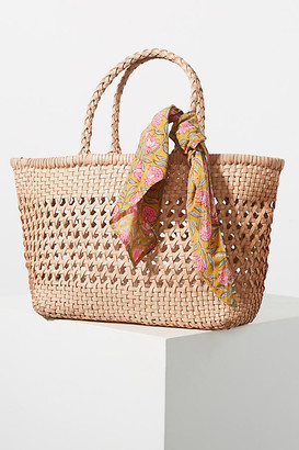 Anthropologie Shira Woven Tote Bag By in Pink Size ALL