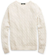 Ralph Lauren Cable-Knit Crewneck Sweater