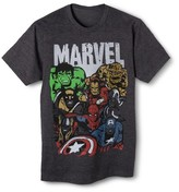 Men's Big & Tall Marvel Crew T-Shirt Charcoal Heather