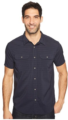Prana Cayman (Nautical) Men's Short Sleeve Button Up