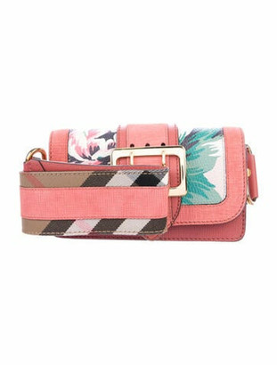 Burberry Leather Patchwork Shoulder Bag Pink