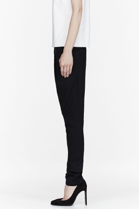 Helmut Lang Black Angled Front Panel Noa Trousers
