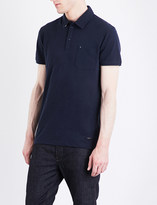 HUGO BOSS Marled jersey polo shirt