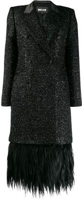Just Cavalli double breasted fringe coat