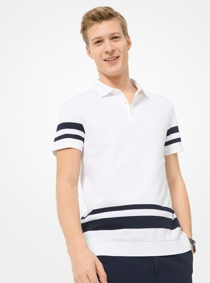 Michael Kors Striped Cotton Polo Shirt