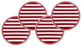 Caskata Set of 4 Beach Stripe Serving Plates - Red/White
