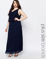 Junarose Sleeveless Maxi Dress With Lace Overlay