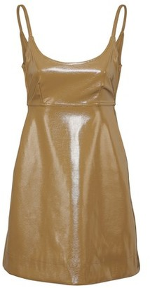 Ganni Glossy finish short dress