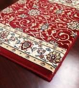carpetcrafts Shadows SHA11 Burgundy Custom Carpet Hallway and Stair Runner - Finished Runner