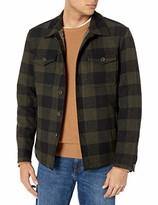 Lucky Brand Men's Button Up Checkered Shirt Jacket