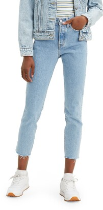 Levi's Wedgie Icon Fit High Waist Raw Hem Ankle Jeans