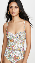 Tory Burch Printed Underwire One Piece Swimsuit