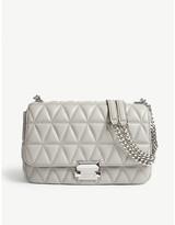MICHAEL Michael Kors Michael Kors Ladies Pearl Grey Timeless Sloan Quilted Shoulder Bag
