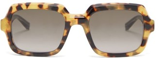 Givenchy Gv 7153/s Squared Tortoiseshell-acetate Sunglasses - Brown