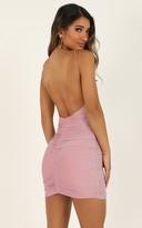 Showpo Party Lights Dress in pink lurex - 12 (L) Dresses
