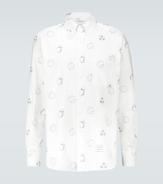 Thom Browne Multi Ball embroidered shirt