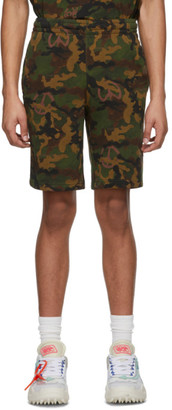 Off-White Green Camo All Over Shorts