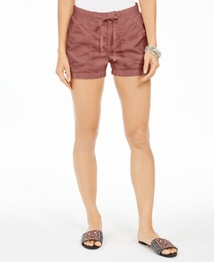Style&Co. Style & Co Poplin Tie Shorts, Created for Macy's