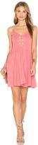 Indah Vivid Lace Up Dress