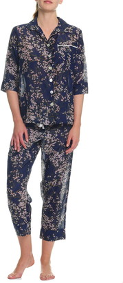Papinelle Cherry Blossom Crop Pajamas