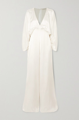 Vanessa Cocchiaro Backless Washed-satin Jumpsuit - Ivory