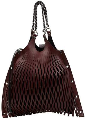 Sonia Rykiel Baltard Burgundy Leather Handbags