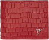 Giuseppe Zanotti Red Croc-embossed Zayn Wallet