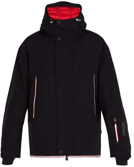 Moncler Miller Double Hooded Jacket - Mens - Black